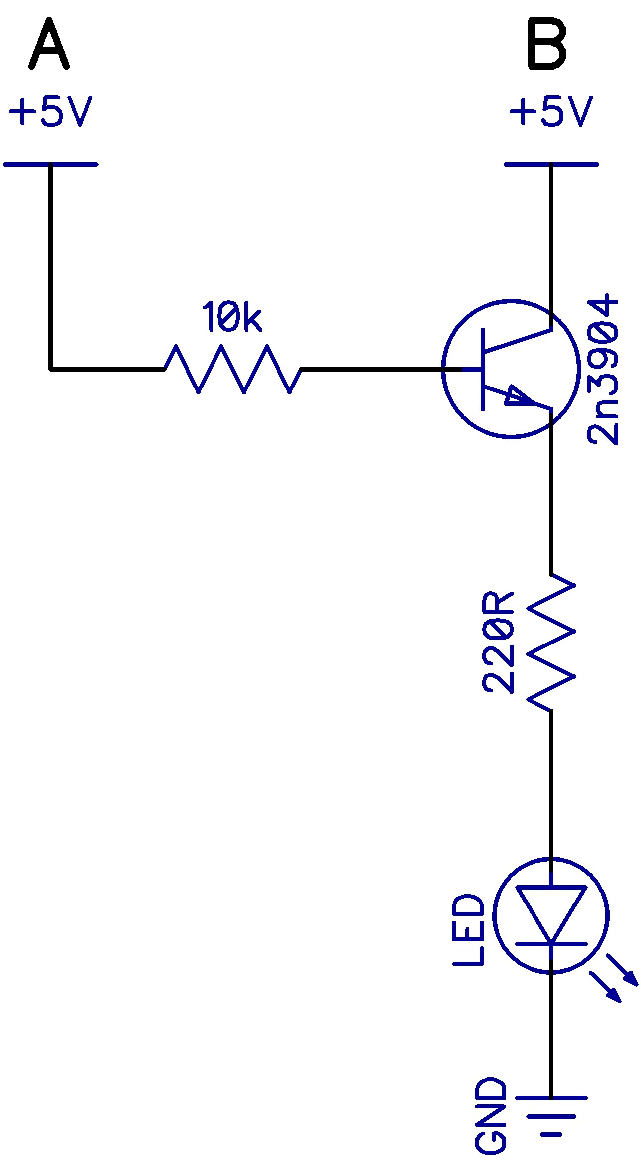 4 Npn Transistors Tech Gp Vanier Transistor Diagram Why Does The Base Have A 10k Resistor But Emitter And Led 220